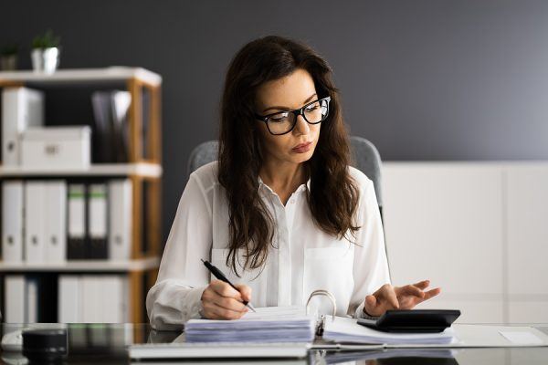 Female accountant setting up a self managed super fund for a client