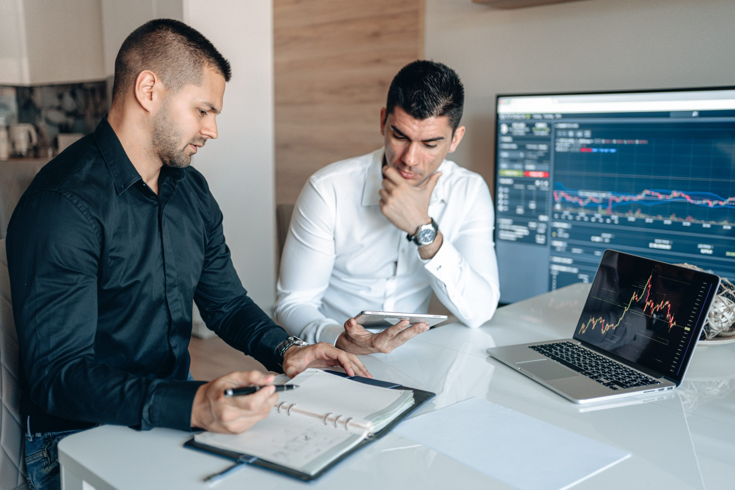 two men working for a blockchain development company in Sydney
