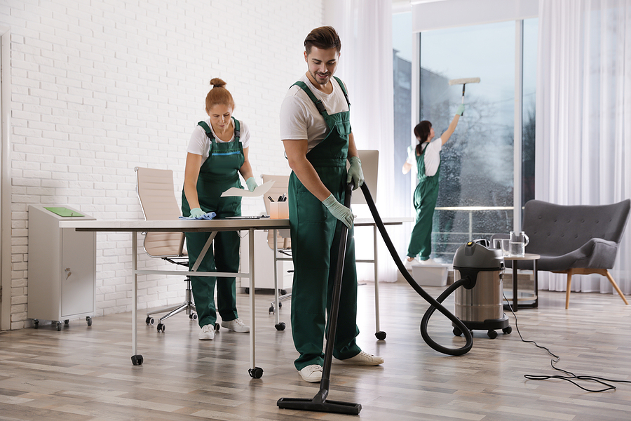 Commercial cleaning company Sydney team while working